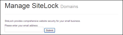 SiteLock Malware Detector Option 1