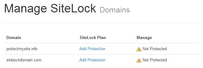 SiteLock Malware Detector Option 2