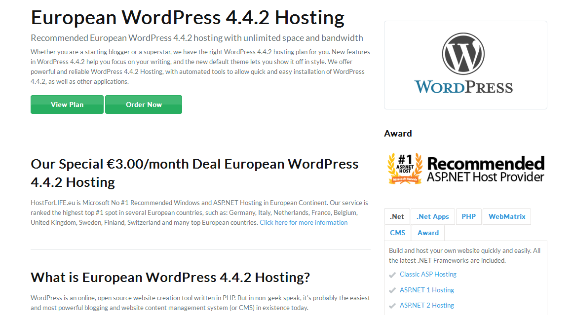 hostforlife wordpress 4.4.2